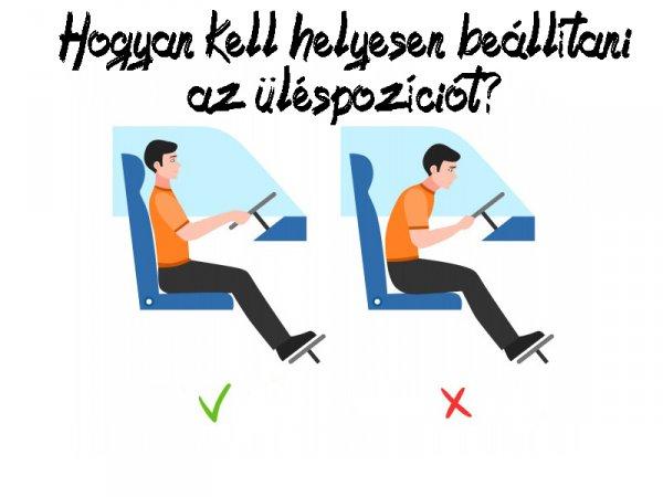Hogyan kell helyesen beállítani az üléspozíciót?
